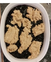 Mulberry-cobbler-topped