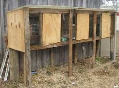 very basic hutches